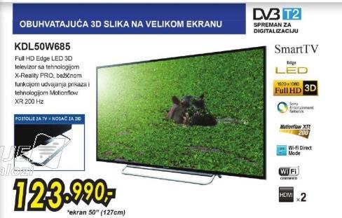 Televizor LED LCD KDL-50W685ABAEP