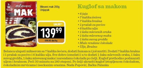 Recept Kuglof sa makom