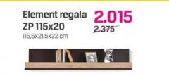 Element regala Zp 115x20