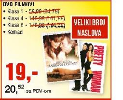 DVD Filmovi, Klasa 1