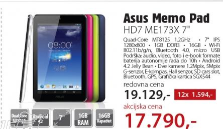 Tablet Memo Pad HD7 ME173X-1G023A