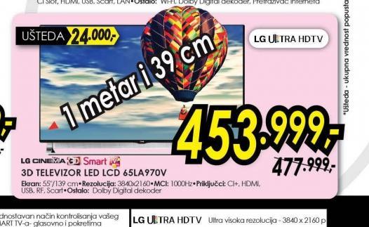 Televizor LED LCD 65LA970V