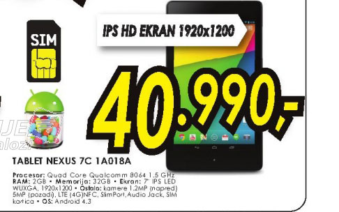 Tablet NEXUS 7C 1A018A
