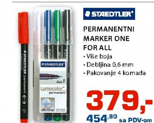 Permanentni Marker One for all, Staedtler