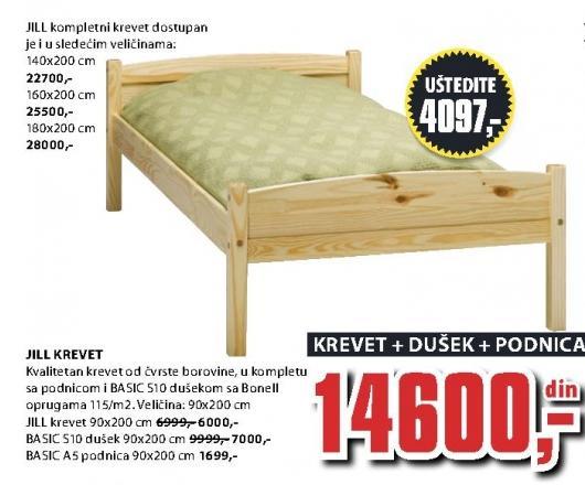 Krevet Jill 90x200 cm