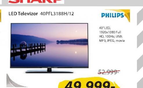Televizor LED 40PFL3188H/12