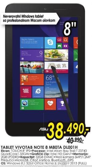 Tablet VivoTab Note 8 M80ta Dl001h