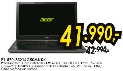 Laptop E1-570-33214G50MNKK