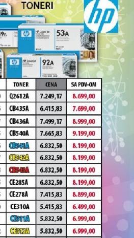 Toneri CE312A