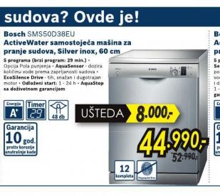 Samostojeća mašina za pranje SMS50D38EU