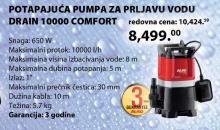 Potapajuća pumpa za prljavu vodu Drain 10000 Comfort