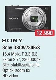 Digitalni Fotoaparat DSCW730B/S