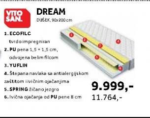 Dusek 90 x 200 cm Dream