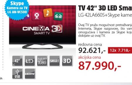 Televizor LED LED Smart LG 42LA660S