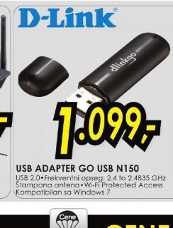 Bežični USB adapter GO-USB-N150