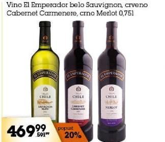 Crveno vino Cabernet Carmenere