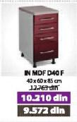 Kuhinjski element IN MDF D40 F moka