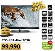 """TV 46"""" LED 3D SMART TOSHIBA 46WL863G + poklon BDX4350KE BluRay plejer"""