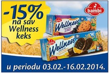 -15% na sav Wellness keks