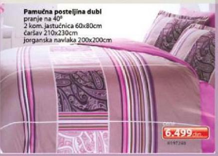 Pamučna posteljina dubl