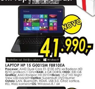 Laptop 15 G001SM F8R10EA