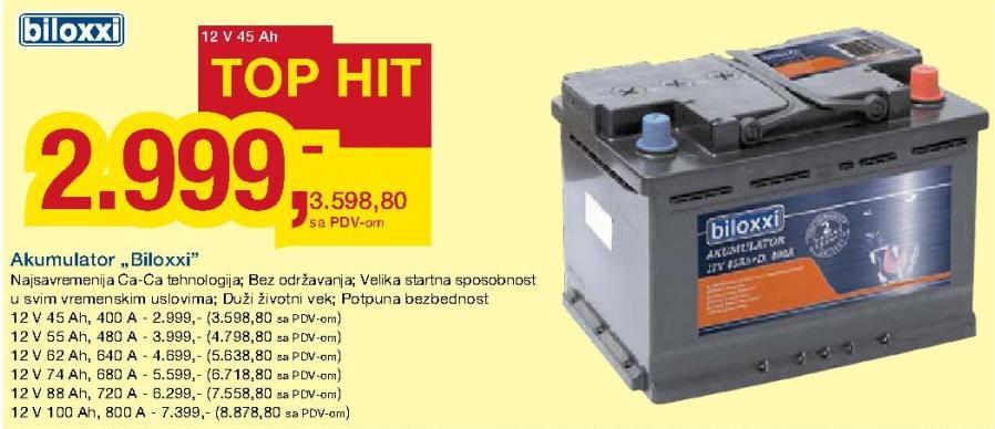 Akumulator 12V 55Ah 480A