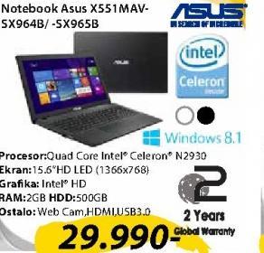 Laptop X551MAV-SX964B