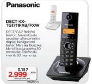Bežični telefon DECT KX-TG1711FXB/FXW