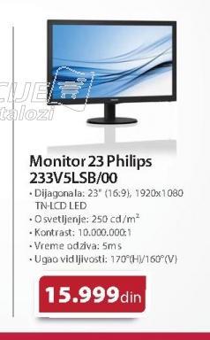 Monitor 23 233V5LSB/00