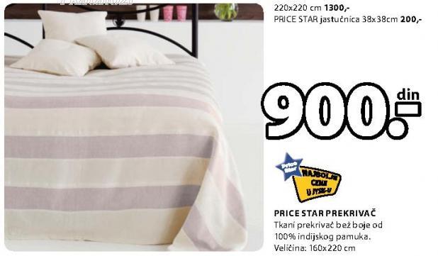 Prekrivač Price Star 160x220cm