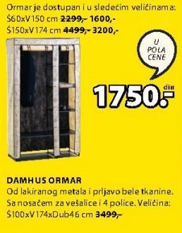 Ormar Dahmus 100x174cm