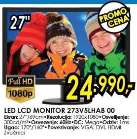 """Monitor LED 27"""" 273v5lhab 00"""
