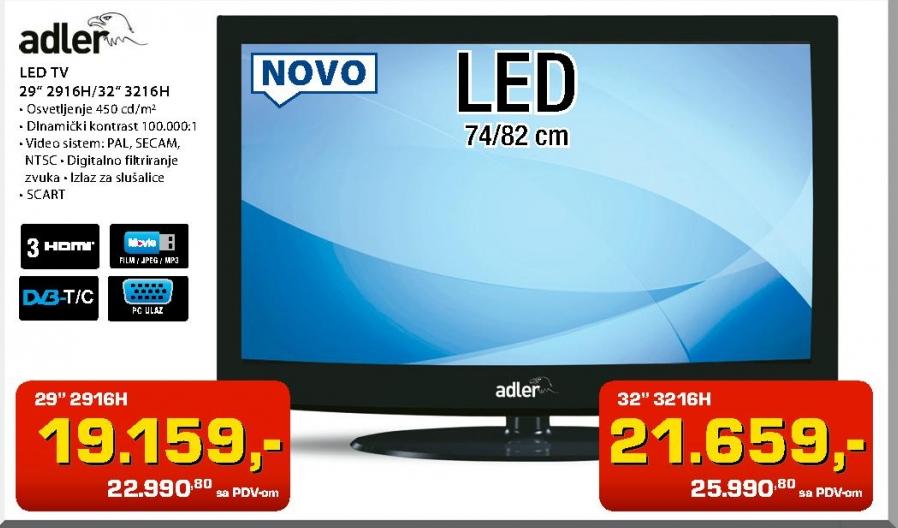 """Televizor LED TV 29"""" 2916H"""