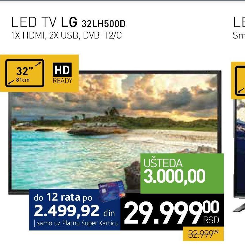 """Televizor LED 32"""" 32LH500D"""