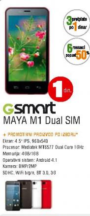 Mobilni Telefon GSmart Maya M1