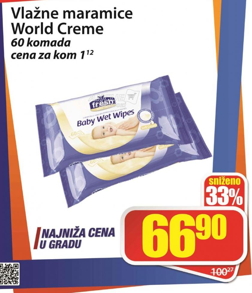 Vlažne maramice world cream