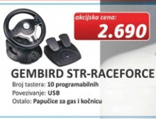 Volan GEMBIRD STR-RACEFORCE