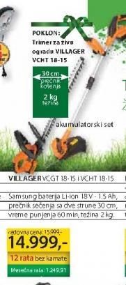 Električni Trimer VCGT 18-15