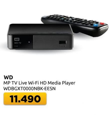 Multimedijalni plejer WD MP TV Live Wi-Fi HD Media Player