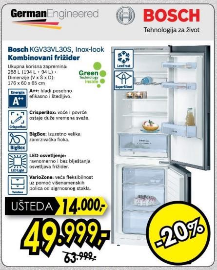 Kombinovani frižider Kgv33vl30s