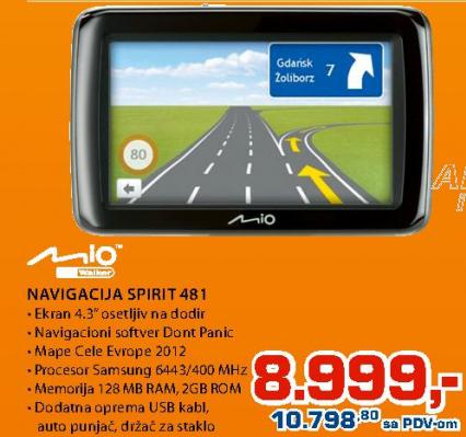 Navigacija Mio Spirit 481