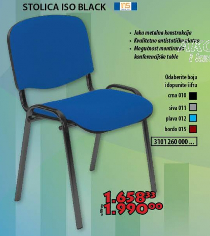 Stolica ISO Black