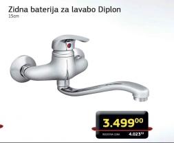 Zidna baterija za lavabo