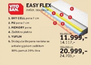 Dušek Easy Flex 90x200cm