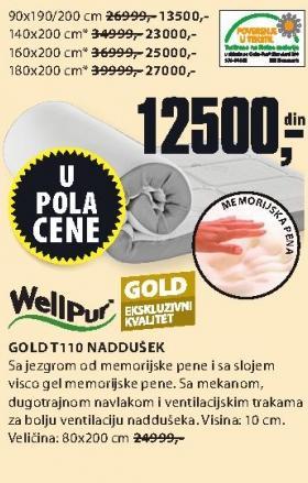Naddušek Gold T100 180x200