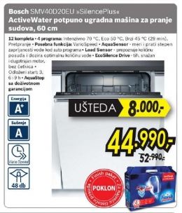 Smv40D20Eu Silenceplus Activewater, 60 Cm