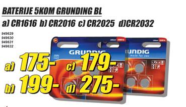Baterije BL CR2016