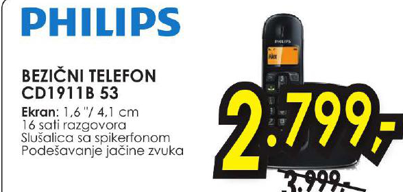 Bežični telefon CD1911B 53