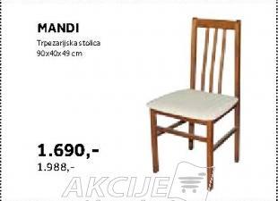 Trpezarijska stolica Mandi