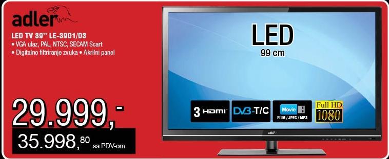 """Televizor LED 39"""" LE-39D1"""